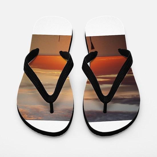 elph Hallett Cove,S.A. sunset Flip Flops