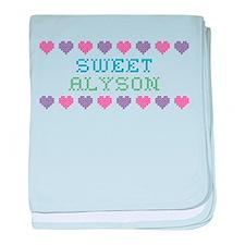 Sweet ALYSON baby blanket