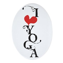I heart YOGA Ornament (Oval)
