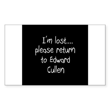 I'm lost...please return to E Sticker (Rectangle)