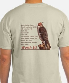 Falconry - Worth It! Ash Grey T-Shirt