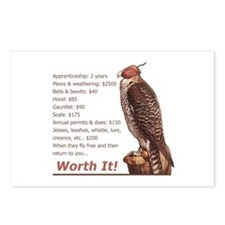Falconry - Worth It! Postcards (Package of 8)