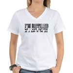 Retired Part Time PITA Women's V-Neck T-Shirt