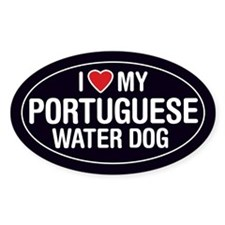 I Love My Portuguese Water Dog Oval Sticker/Decal