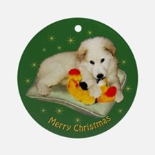 Great Pyrrenees Ornament (Rd),Puppies Xmas,green