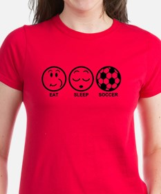 Eat Sleep Soccer Tee