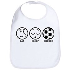 Eat Sleep Soccer Bib