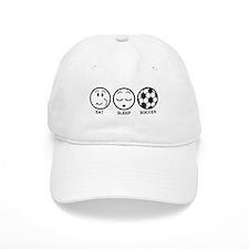 Eat Sleep Soccer Baseball Cap