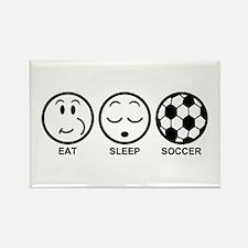 Eat Sleep Soccer Rectangle Magnet