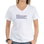 Women's V-Neck T-Shirt Tebowing Definition