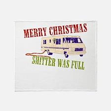 Shitter Was Full Throw Blanket