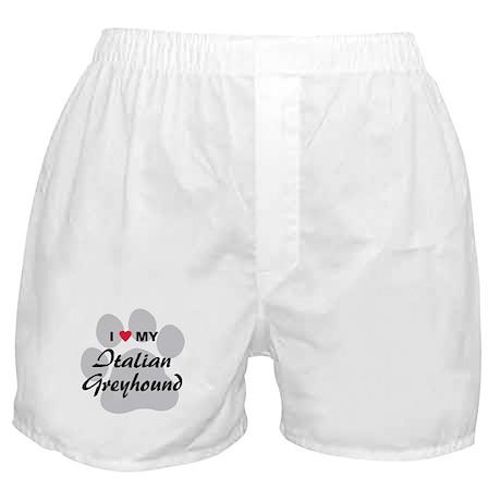 Love My Italian Greyhound Boxer Shorts
