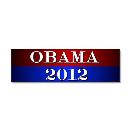 Obama 2012 Car Magnet 10 x 3