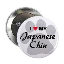 "I Love My Japanese Chin 2.25"" Button"