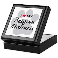 I Love My Belgian Malinois Keepsake Box