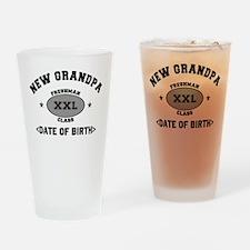 Personalized New Grandpa University Drinking Glass