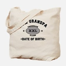 Personalized New Grandpa University Tote Bag