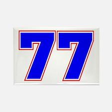 NUMBER 77 Rectangle Magnet