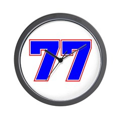 NUMBER 77 Wall Clock