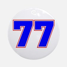 NUMBER 77 Ornament (Round)