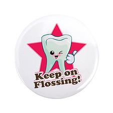 """Dentist Dental Hygienist Teeth 3.5"""" Button (100 pa"""