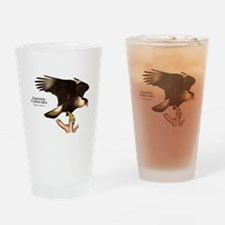 Crested Caracara Drinking Glass