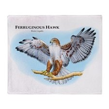 Ferruginous Hawk Throw Blanket