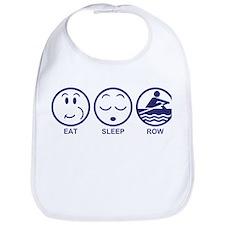 Eat Sleep Row Bib