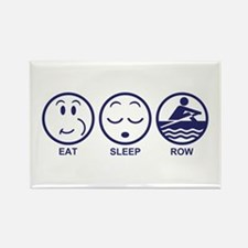 Eat Sleep Row Rectangle Magnet