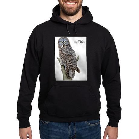 Great Gray Owl Hoodie (dark)