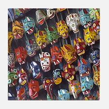 Guatemalan Mask  Tile Coaster