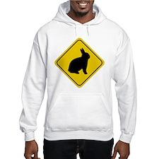 Rabbit Crossing Sign Hoodie