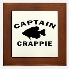 CAPTAIN CRAPPIE Framed Tile
