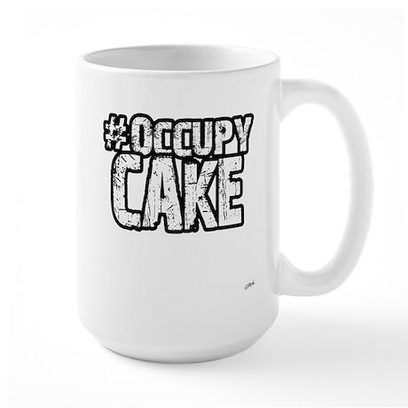 Occupy Cake Large Mug