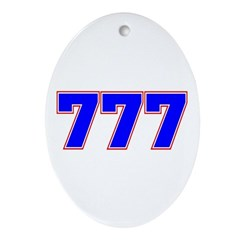 777 GOD Ornament (Oval)