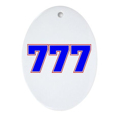 777 GOD Ornament (Oval)