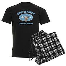 Personalized New Grandpa New Grandson Pajamas