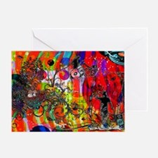 Open microphone Non Stop Musi Greeting Card