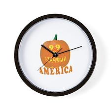 occupy america pumpkin 3D Wall Clock