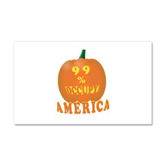 occupy america pumpkin 3D Car Magnet 20 x 12