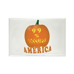 occupy america pumpkin 3D Rectangle Magnet (100 pa