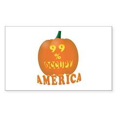 occupy america pumpkin 3D Sticker (Rectangle 50 pk