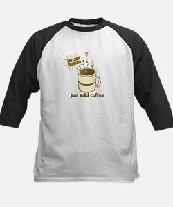 Funny Retro Coffee Humor Kids Baseball Jersey
