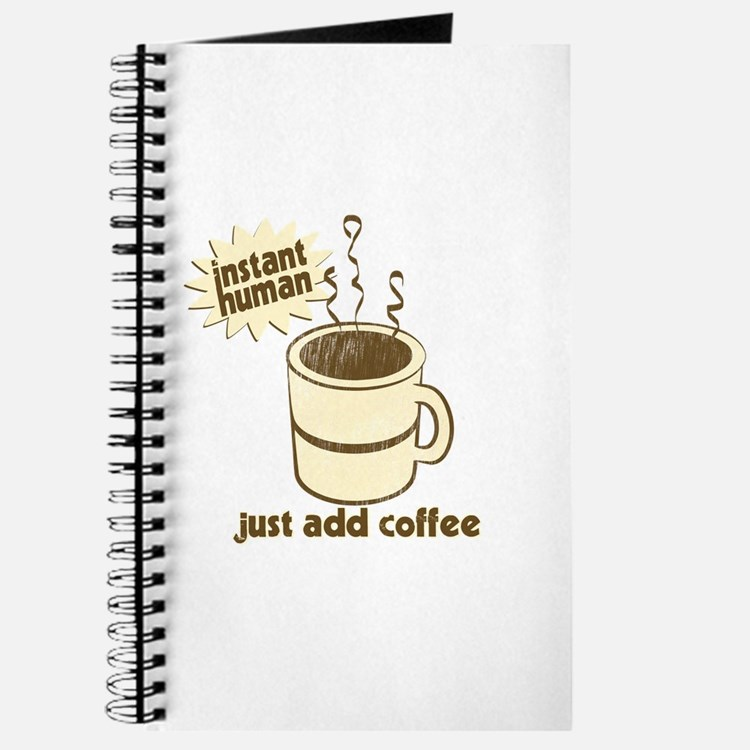Funny Retro Coffee Humor Journal