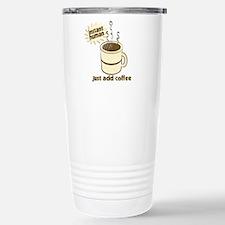 Funny Retro Coffee Humor Stainless Steel Travel Mu