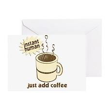 Funny Retro Coffee Humor Greeting Card