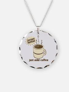 Funny Retro Coffee Humor Necklace