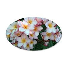 Pretty Pink Plumeria Flowers Wall Decal
