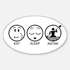 Eat Sleep Kayak Decal