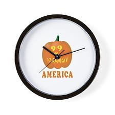 occupy america pumpkin Wall Clock